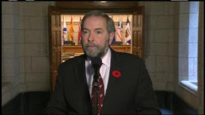 Mulcair says 'lots of emotion' in first caucus meeting since Ottawa shooting