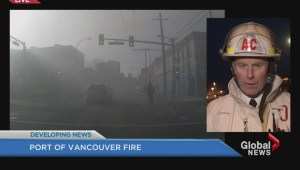 Huge firefighter response at Port of Vancouver fire