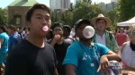Ryerson University unofficially breaks Guinness World Record for most people blowing chewing gum