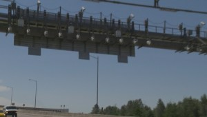 RCMP on Golden Ears toll bridge plate evader
