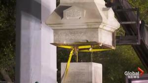 Confederate monument taken down in the middle of the night in New Orleans