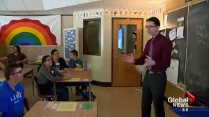 Weather school with Global Saskatoon's meteorologist