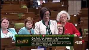 MP Niki Ashton says the NDP are proud to support change to National Anthem