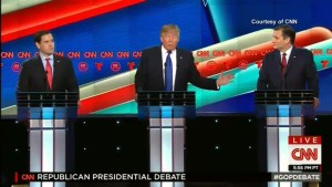 Rubio, Cruz attack Trump during GOP presidential debate