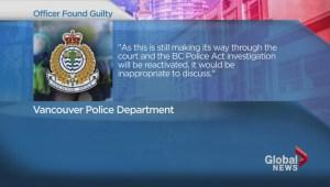 VPD officer guilty of assault