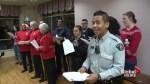 Surrey's singing Mounties spread Christmas cheer