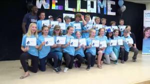 Sam Effah mentors 'Classroom Champions' in Weyburn, Sask.