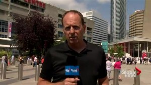 Neil Jones speaks to Global News on fighting the fire at the CN Tower