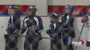 Young hockey players take in first Sidney Crosby Hockey Camp