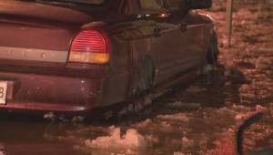 Raw Video: Water main bursts on the Plateau