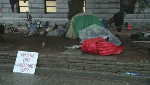 Archive: Occupy tent city takes over Vancouver Art Gallery lawn