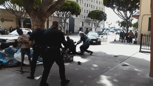 LAPD fatally shoot homeless man after struggle