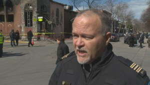 Montreal police on Greek church fire