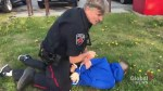 RAW: Freelance photographer captures Global News videographer's arrest in Hamilton
