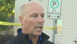 Winnipeg Police Inspector speaks to media about standoff with Canada-wide warrant arrest
