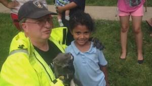 Pennsylvania kindergartner helps firefighters rescue kitten stuck in storm drain
