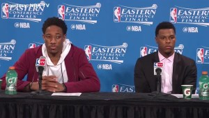 DeRozan talks 'footwork,' Cavaliers being well rested following Raptors' loss