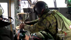 Grey Cup travels by air, water and land for its arrival in Toronto