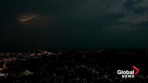 Lightning storm in southest Calgary