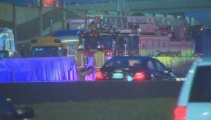 Raw video: Overturned truck stops traffic in Montreal