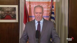 Presser: BC NDP leader John Horgan on getting big money out of provincial politics