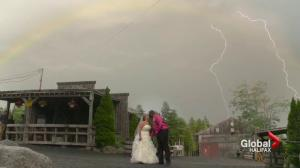 Nova Scotia newlyweds' 'once-in-a-lifetime' photo created by merging videos