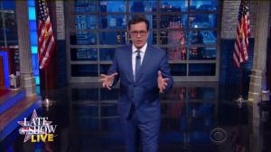 'Or if he's just going to wipe his fat ass with the constitution': Stephen Colbert on Trump not accepting results of election