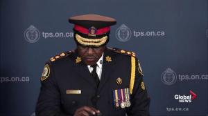 Toronto Police Chief Mark Saunders offers condolences on passing of former chief Bill McCormack
