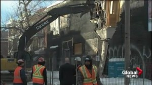 Roof collapses in Montreal Plateau after heavy snow