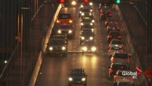 Lions Gate Bridge bump keeps traffic to a crawl