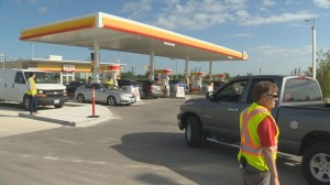 Shell station gives customers free gas