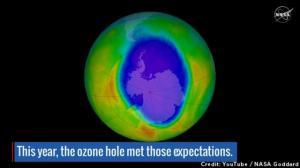 The 2016 ozone hole