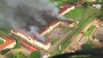Hundreds of inmates flee after Brazil prison set on fire
