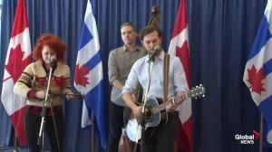 Great Lake Swimmers perform at John Tory press conference