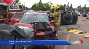 Laval fake crash site