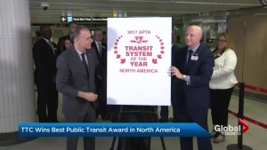 TTC ranked number one in North America by transit association