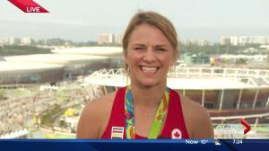 Olympic gold medallist Erica Wiebe talks about wrestling success