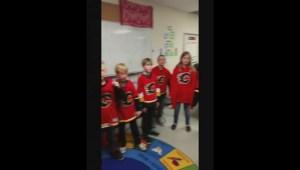 Grade 5 class raps about the Flames