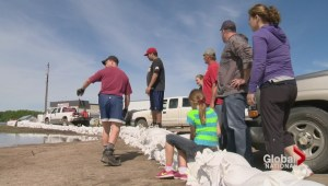 Surveying flood damage in the Prairies