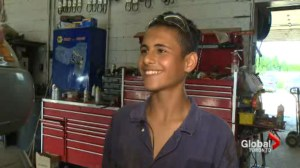 15-year-old Syrian refugee finds first summer job