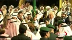 Trump greeted with traditional sword dance at Murraba Palace