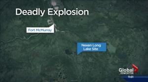 1 dead, 1 in critical condition after explosion at Nexen Long Lake site in northern Alberta