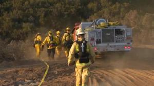 Authorities using a controlled burn to battle 'Rocky Wildfire'