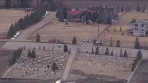 Police on scene at Muslim cemetery near Cochrane