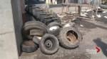 Impromptu tire dump in Lachine