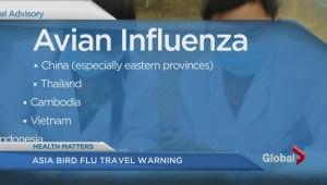 Asia Bird flu travel warning