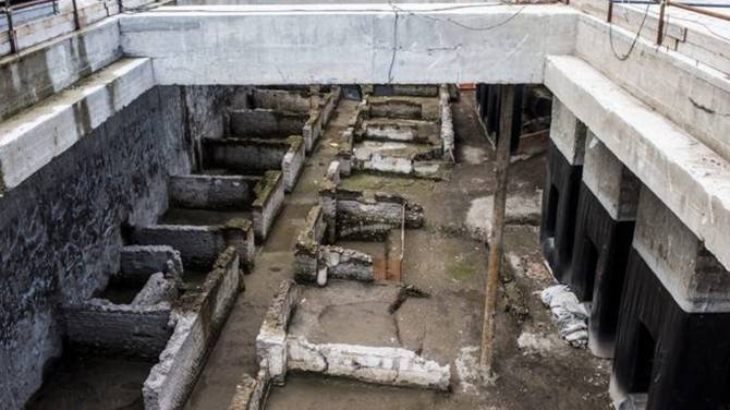 Αποτέλεσμα εικόνας για IN PHOTOS: Rare Roman relics unearthed in Rome subway construction