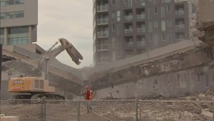 Construction worker's close call caught on camera