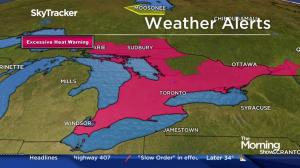 Extended heat warning issued for Toronto