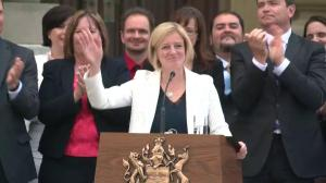 Rachel Notley makes her first speech as Alberta Premier